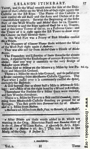 [Picture: Leland's Itinerary, Volume 1 Page 57]
