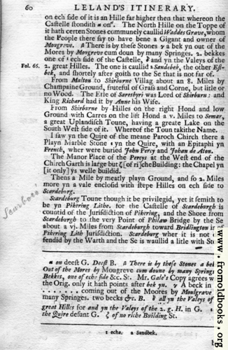 [Picture: Leland's Itinerary, Volume 1 Page 60]