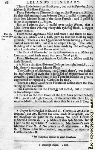 [Picture: Leland's Itinerary, Volume 1 Page 66]