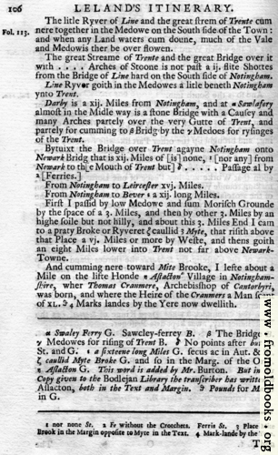 [Picture: Leland's Itinerary, Volume 1 Page 106]
