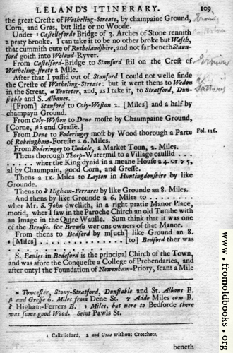 [Picture: Leland's Itinerary, Volume 1 Page 109]