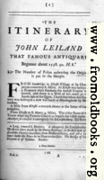 [picture: Leland's Itinerary, Volume 1 Page 1]