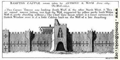 [picture: Bampton Castle, West Side.]