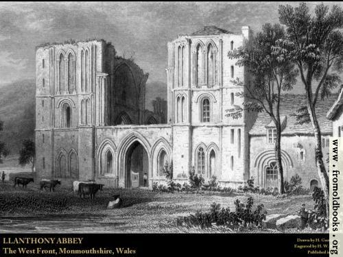 [Picture: Plate 18.—Llanthony Abbey (Wallpaper Edition)]