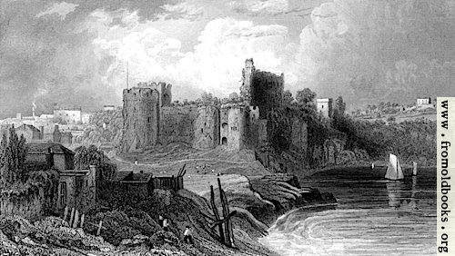 [Picture: 62.—Chepstow from the bridge.]