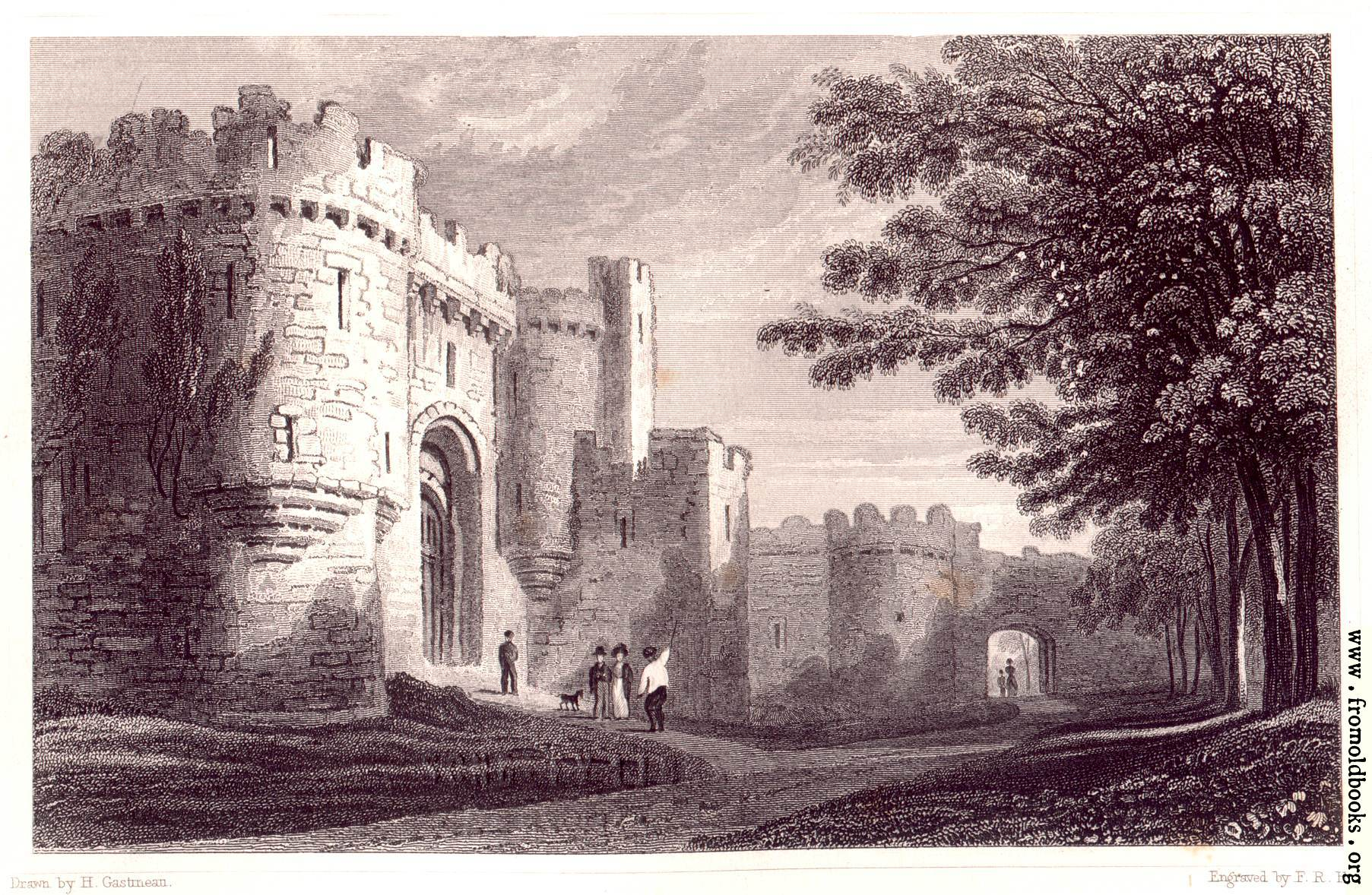 plate 65  u2014entrance to beaumaris castle