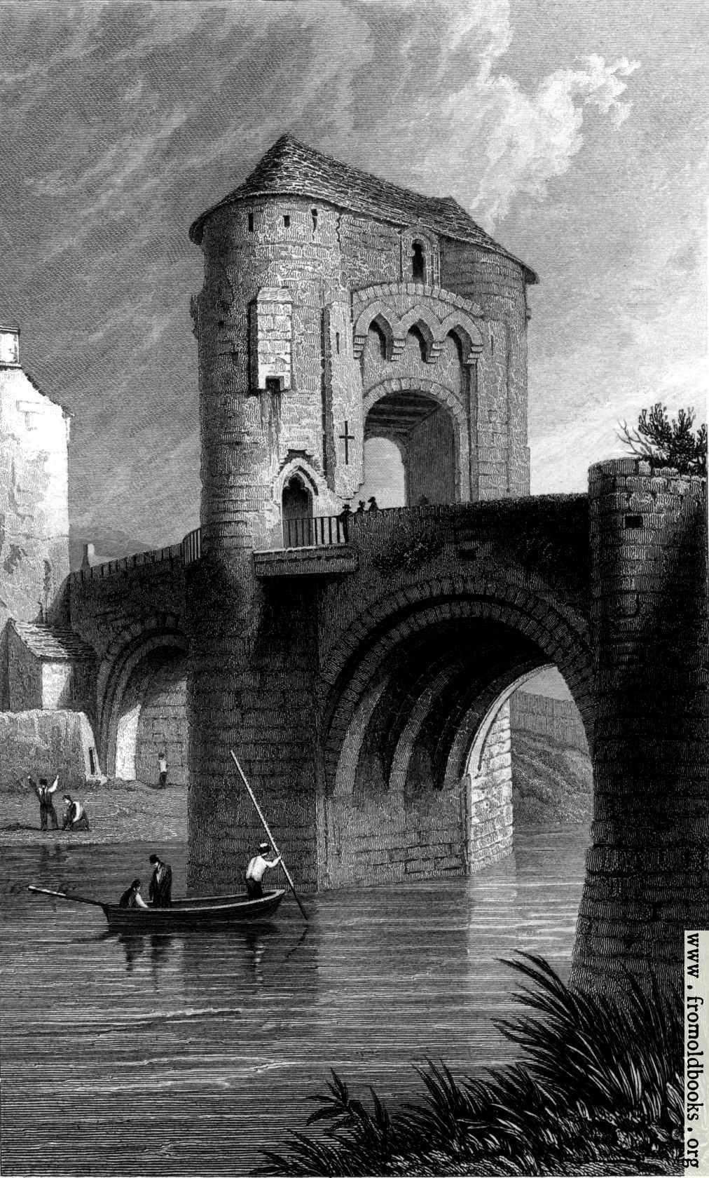 [Picture: Ragland Castle - gateway and bridge - Monmouthshire (also called Raglan Castle)]