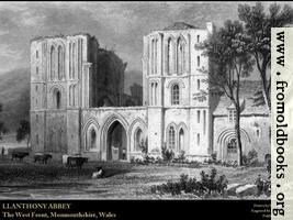 [picture: Plate 18.---Llanthony Abbey (Wallpaper Edition)]