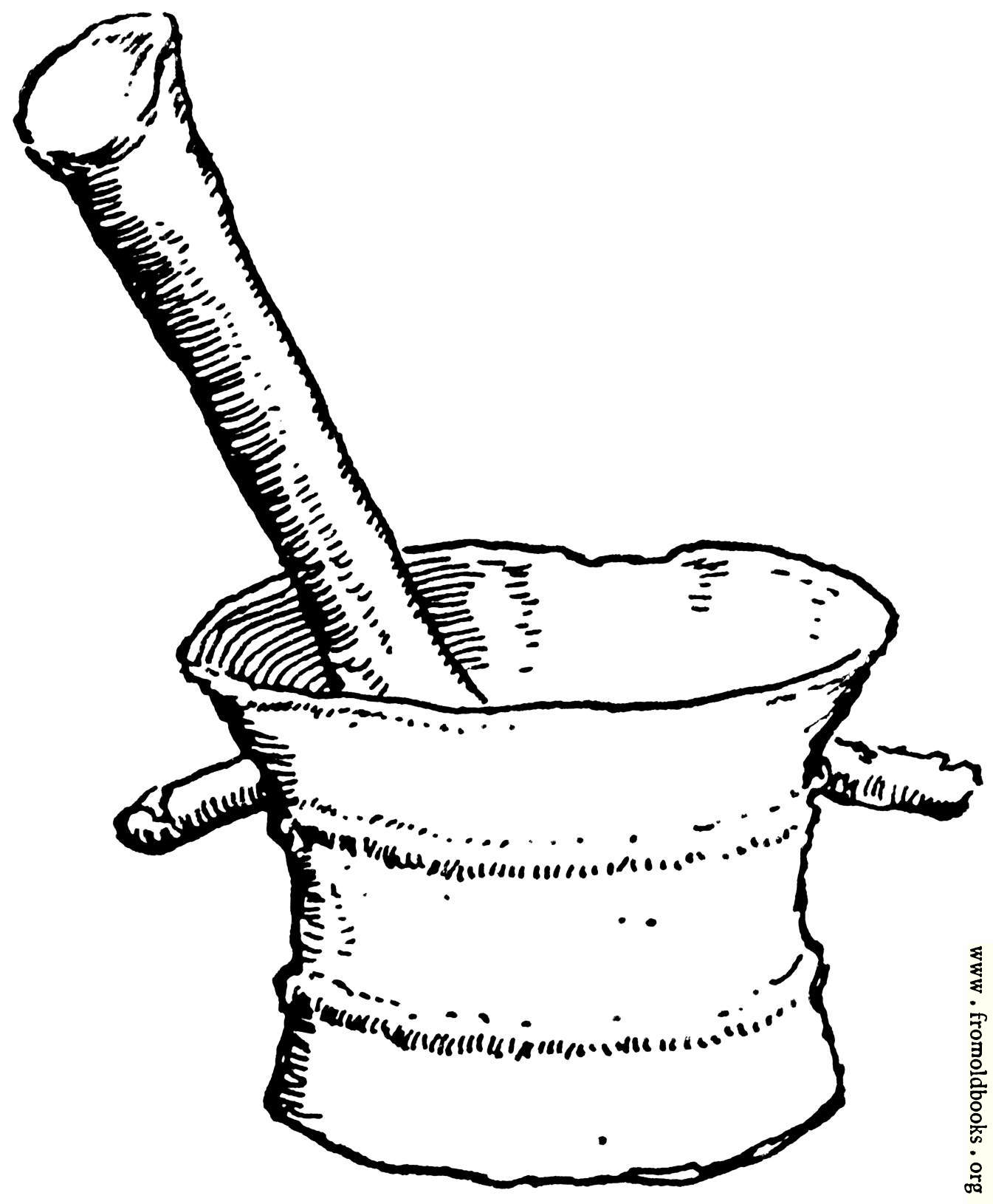 Pestle and Mortar in Bronze for Mortar And Pestle Drawing  153tgx