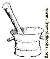 [Picture: Pestle and Mortar in Bronze]