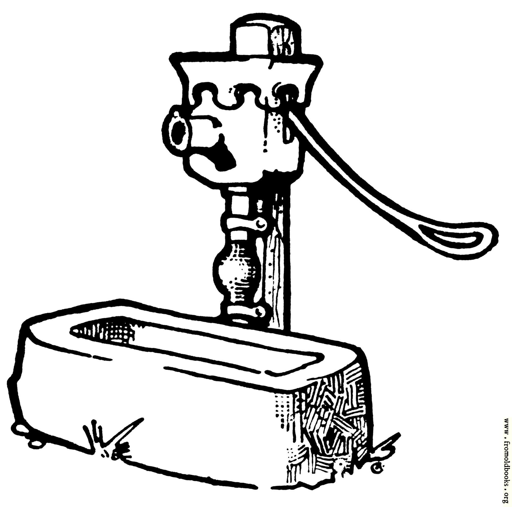 [Picture: Endpiece: well-pump with horse-trough]