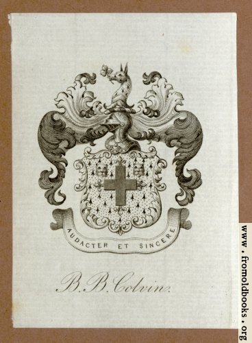 [Picture: Bookplate, R. B. Colvin]