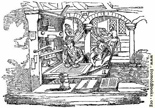 [Picture: 1134.—Ancient Printing-office]