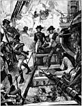 Nelson at Trafalgar.