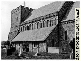 [picture: 43. St. Margarets at Cliffe, Kent, with its Normon clerestory [exterior view]]