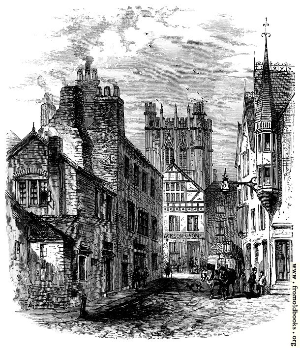 [Picture: Chester Cathedral Tower from St. John's Street]