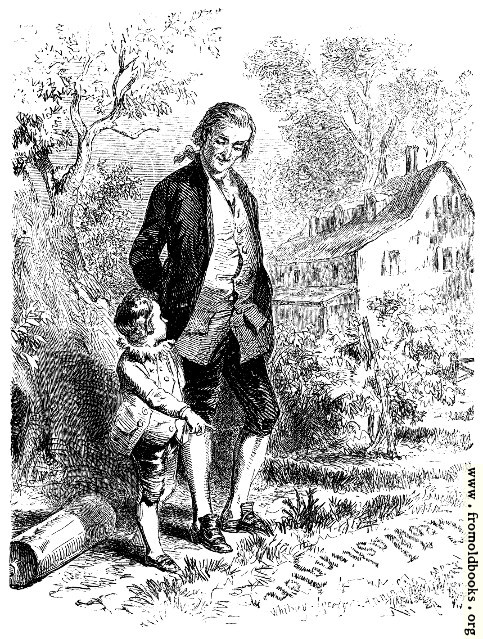 [Picture: Washington and his Father]