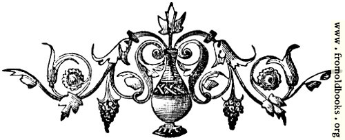 [Picture: Tailpiece ornament with vase]