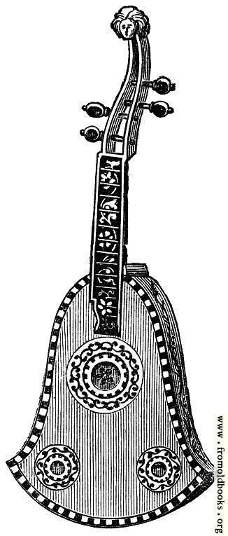 [Picture: Musical Instruments at the South Kensington Museum: E.—Quinterna, of Chiterna]