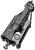 [picture: Musical Instruments at the South Kensington Museum: H.---Vielle, or Hurdy-Gurdy]
