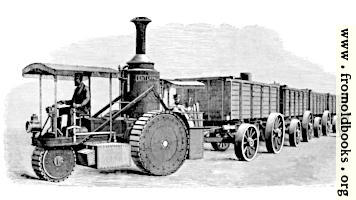 [picture: Thomson's Road-Steamer and Coal-Waggons]