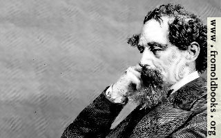 [picture: A closer crop of a portrait of Sir Charles Dickens]