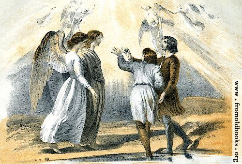 [Picture: The Pilgrims met on coming out of the river.]