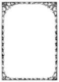 Full-page oak-leaf border