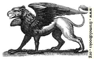 [Picture: Antique engraving of a gryphon]