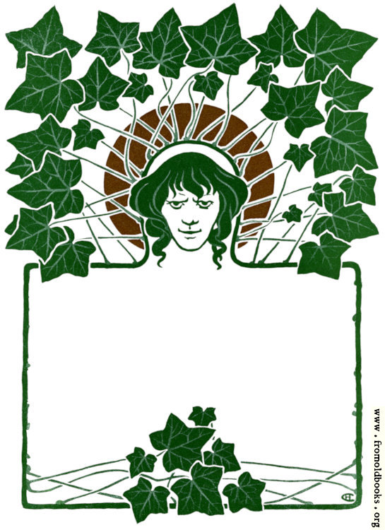 [Picture: Art Nouveau Border with ivy leaves and face.]