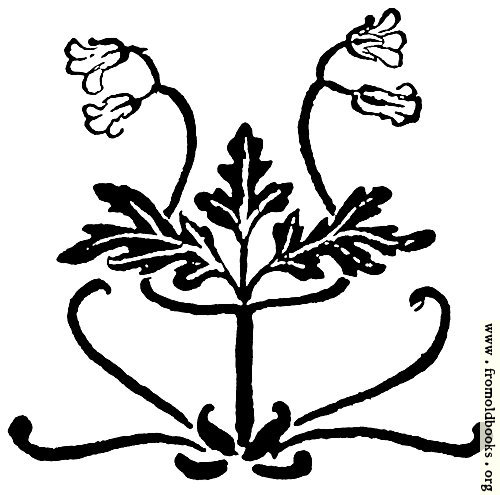 [Picture: Typographic ornament with leaves and flowers]