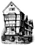 Old Shop, corner of Fleet Street and Chancery Lane in 1799