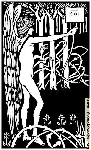 [Picture: Art Nouveau Nude Archer in Forest]