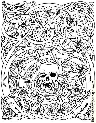 [Picture: Goth skull with vines]