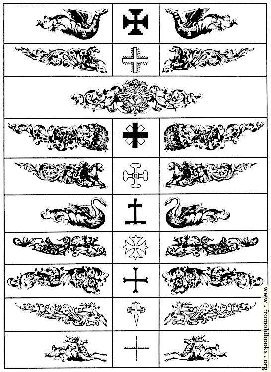 [Picture: Various Chapterheads or Heraldic  Supprting Devices]