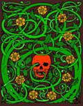 Goth skull with vines, colour version