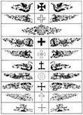 Various Chapterheads or Heraldic  Supprting Devices