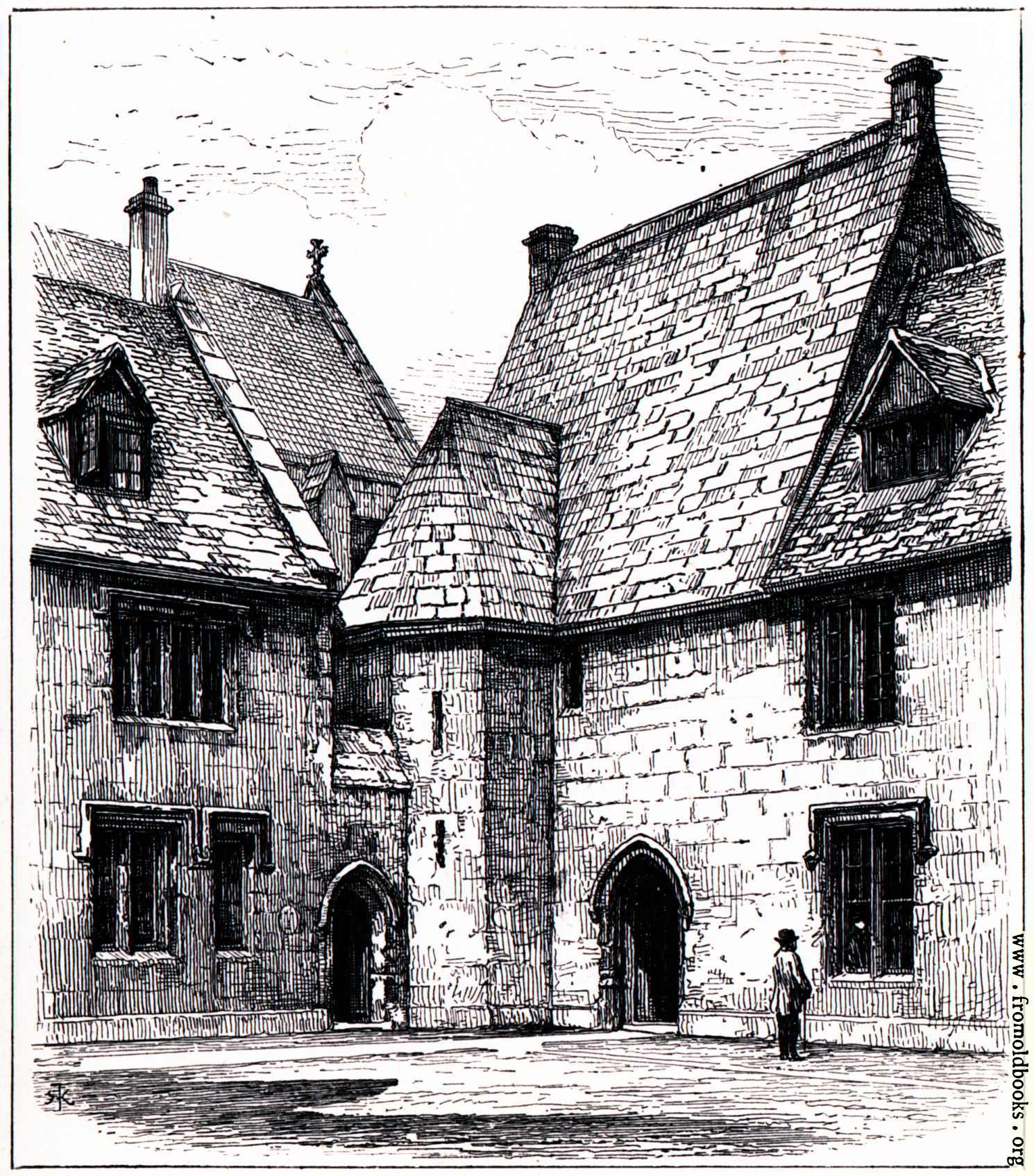 [Picture: The Muniment Room at Merton College]