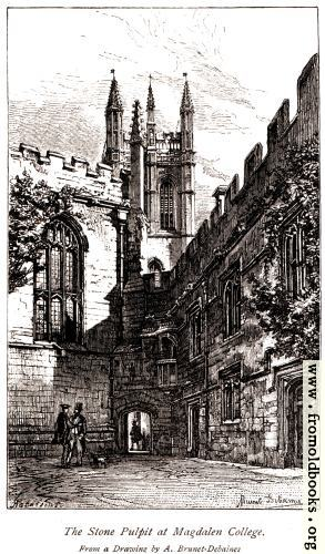 [Picture: The Stone Pulpit at Magdalen College.]