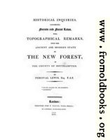[picture: Title Page (Laws... of the New Forest)]