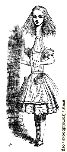 [Picture: Alice grown tall]