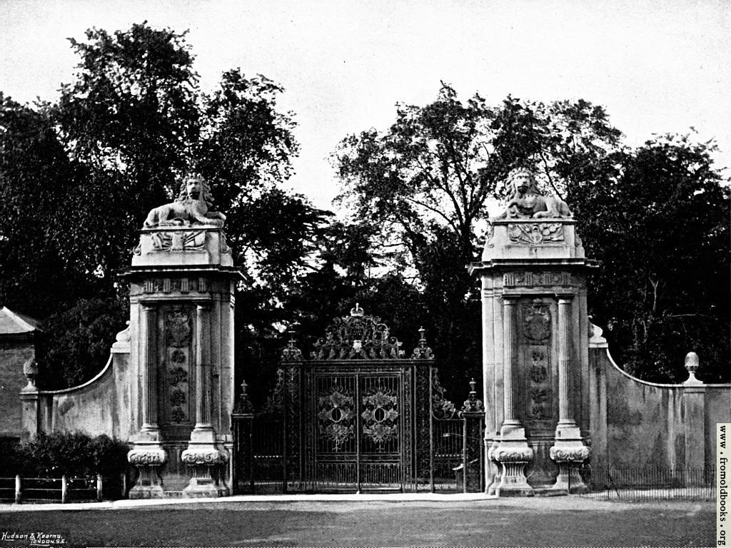 [Picture: The Lion Gates, Hampton Court]