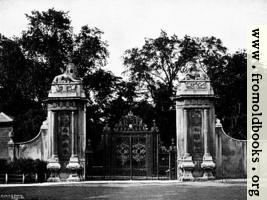 [Picture: The Lion Gates, Hampton Court]