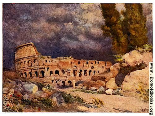 [Picture: The Colosseum in a Storm]