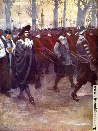 [Picture: Frontispiece: Charles the King walked for the last time through the streets of London]