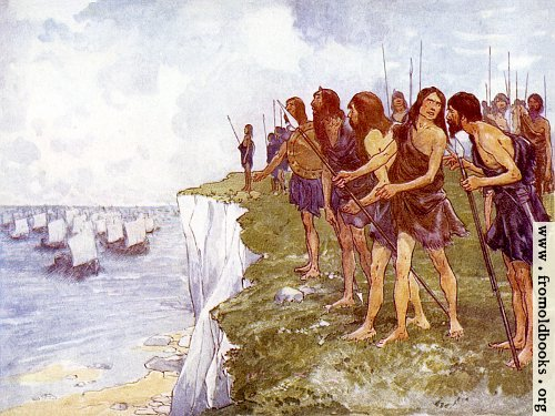 [Picture: The shore was covered with men ready for battle]