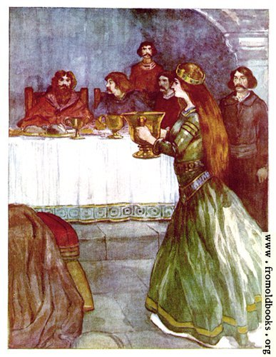 [Picture: The Lady Rowena and the Golden Cup]
