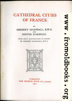 [picture: Title Page from Cathedral Cities of France]