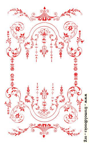 [Picture: Victorian Border, Red on White.]