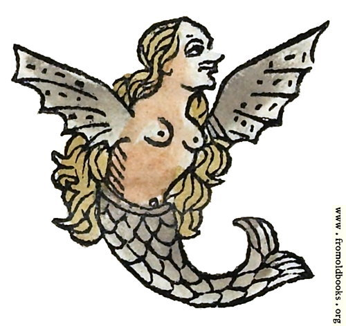[Picture: Winged Mermaid from p. 199 recto]